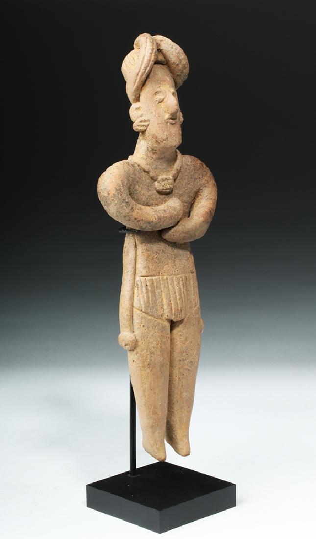 Tall Colima Standing Pottery Flat Figure - 5