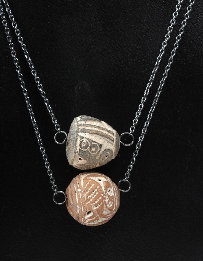 Equadorian Spindle Whorl Owl Beaded Layered Necklace - 3