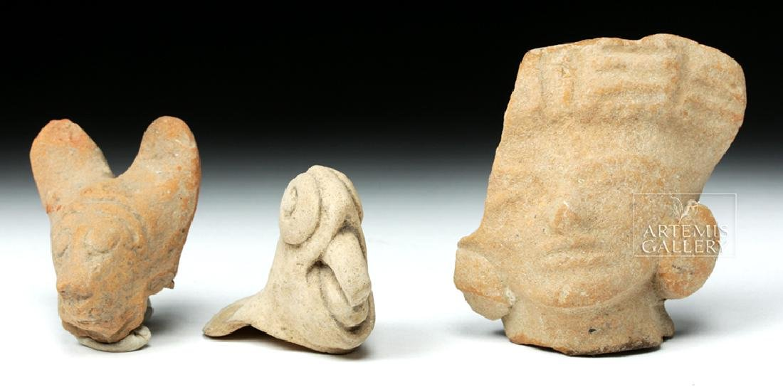 Trio of Pre-Columbian Pottery Fragments