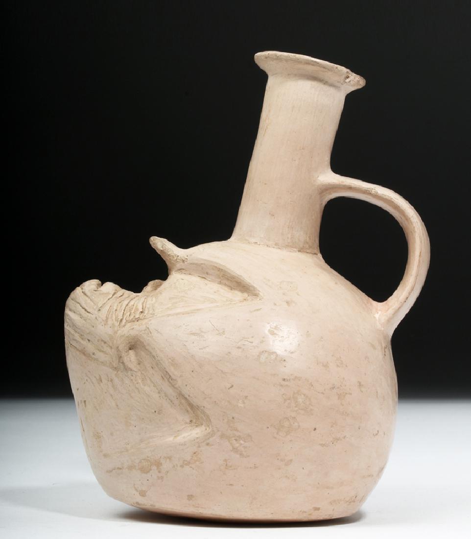 Rare Pre-Columbian Tallan Face Stirrup Vessel - 2