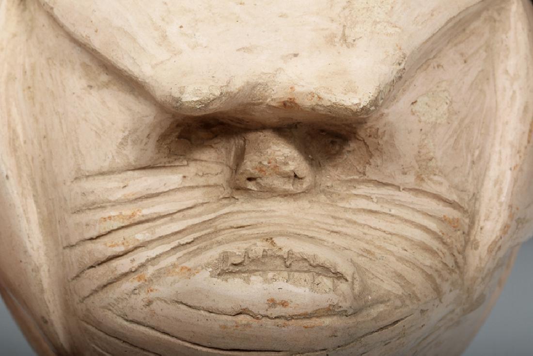 Rare Pre-Columbian Tallan Face Stirrup Vessel - 6