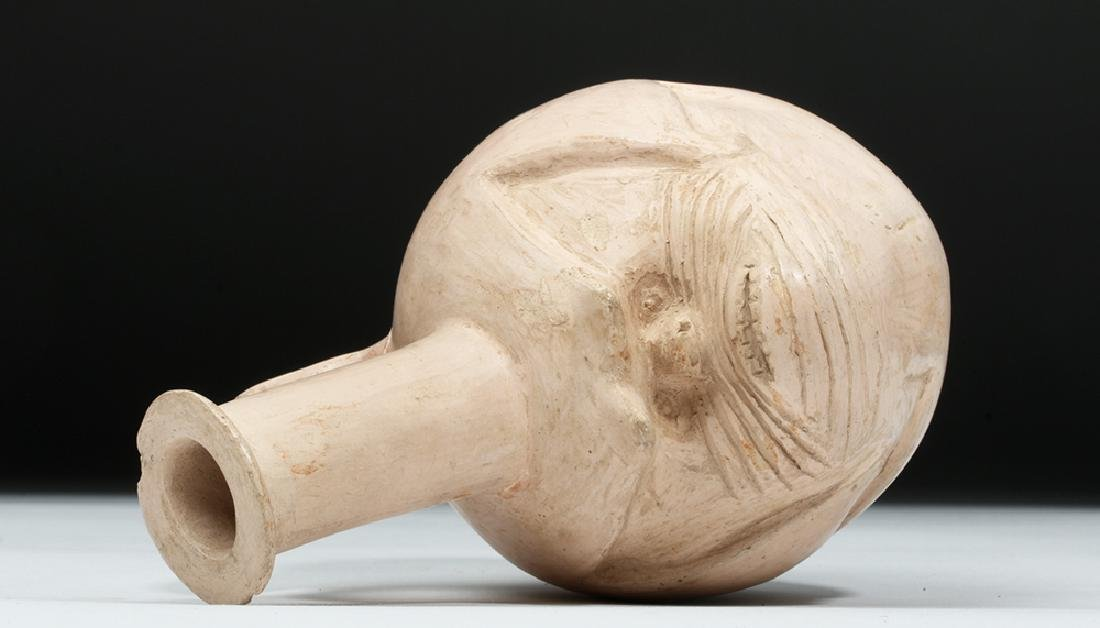 Rare Pre-Columbian Tallan Face Stirrup Vessel - 7
