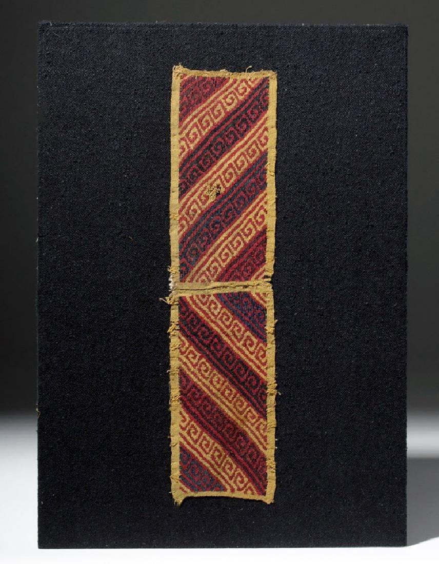 Ancient Peruvian Ica Textile Panel