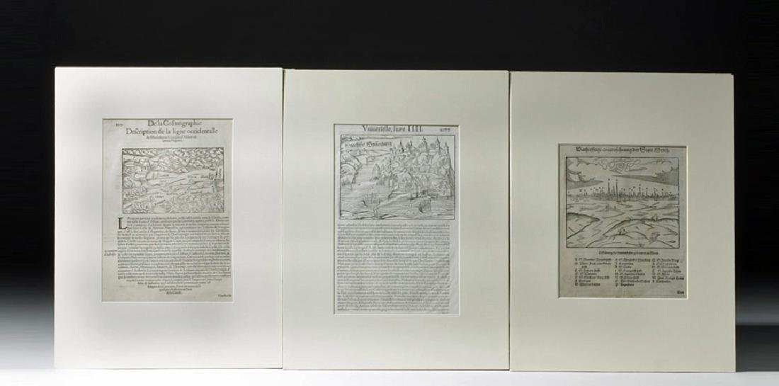 Trio of 16th C. European Engraved Maps