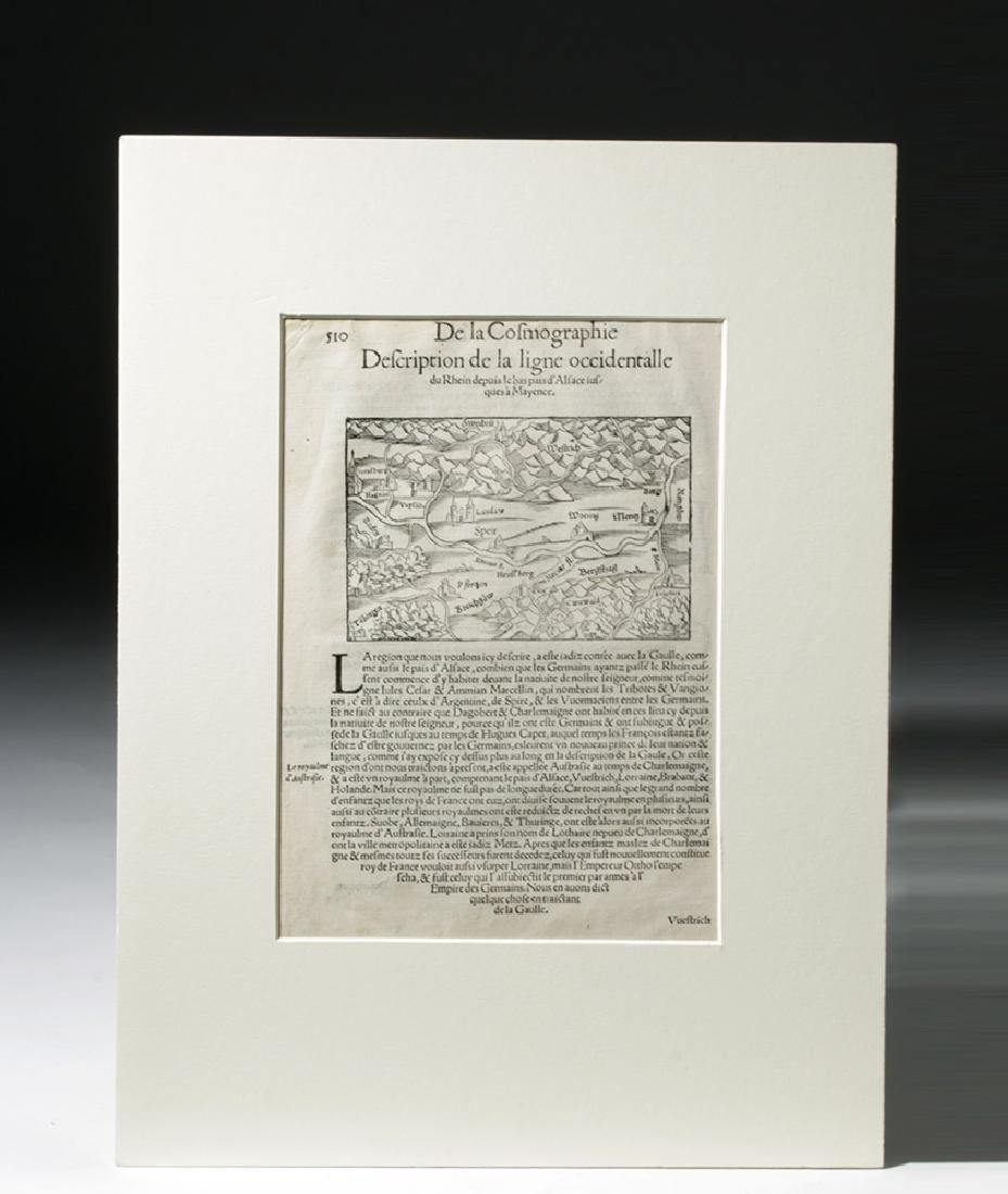 Trio of 16th C. European Engraved Maps - 5