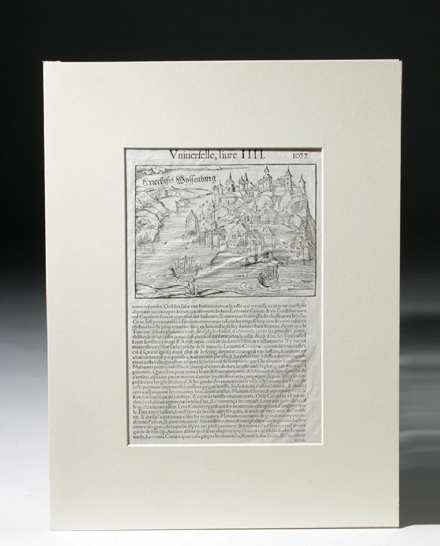 Trio of 16th C. European Engraved Maps - 7