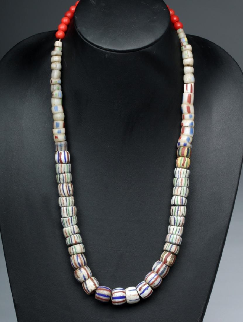 Russian Barber Pole Handmade Glass Trade Beads