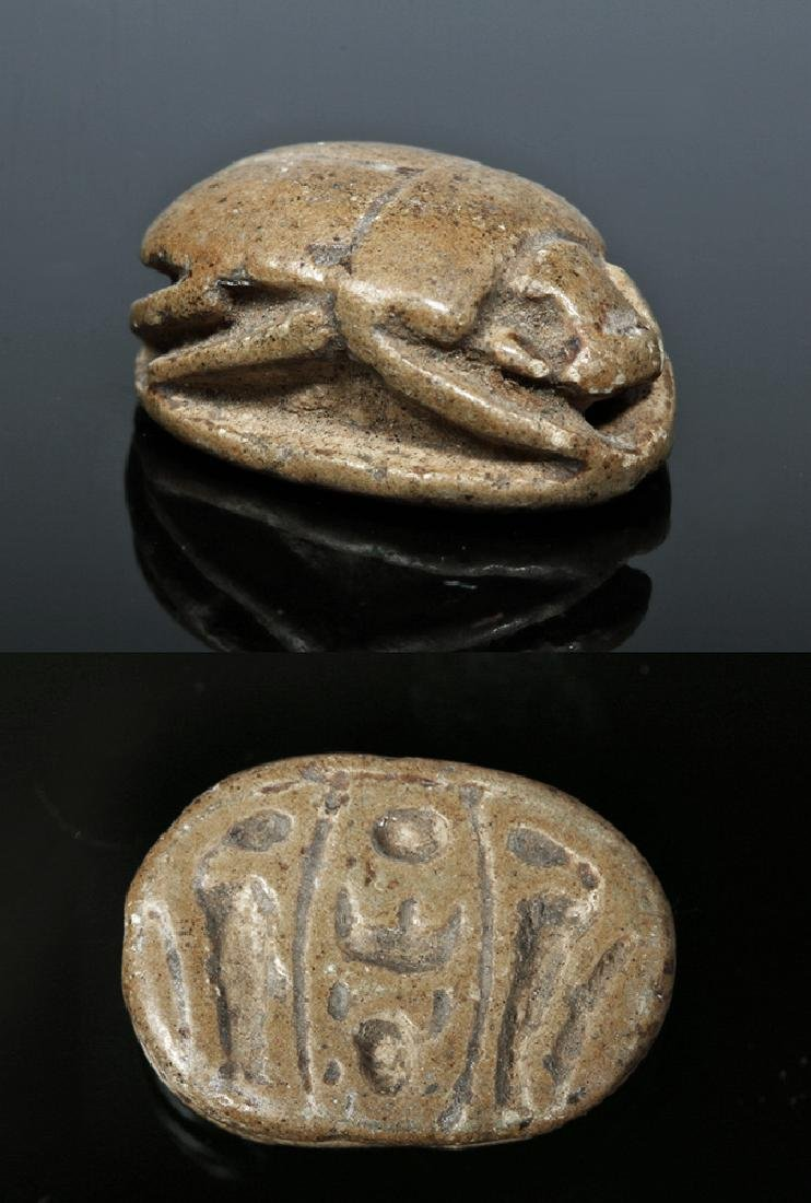 Egyptian Steatite Royal Scarab for Thutmose III