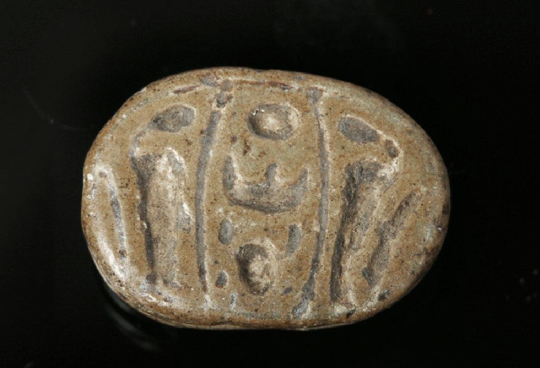 Egyptian Steatite Royal Scarab for Thutmose III - 4