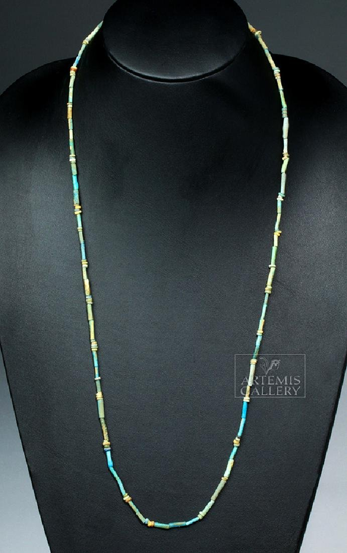 Egyptian Faience Beaded Necklace - 3000 years old!