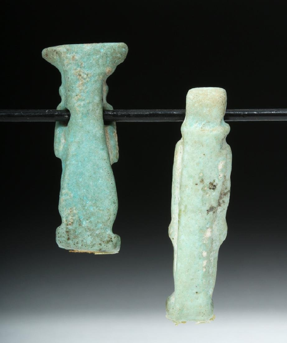Pair of Egyptian Faience Amulets - Thoth & Isis - 4