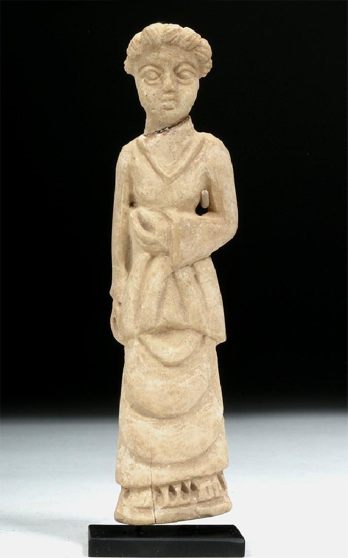 Romano-Egyptian Coptic Bone Idol - Standing Woman
