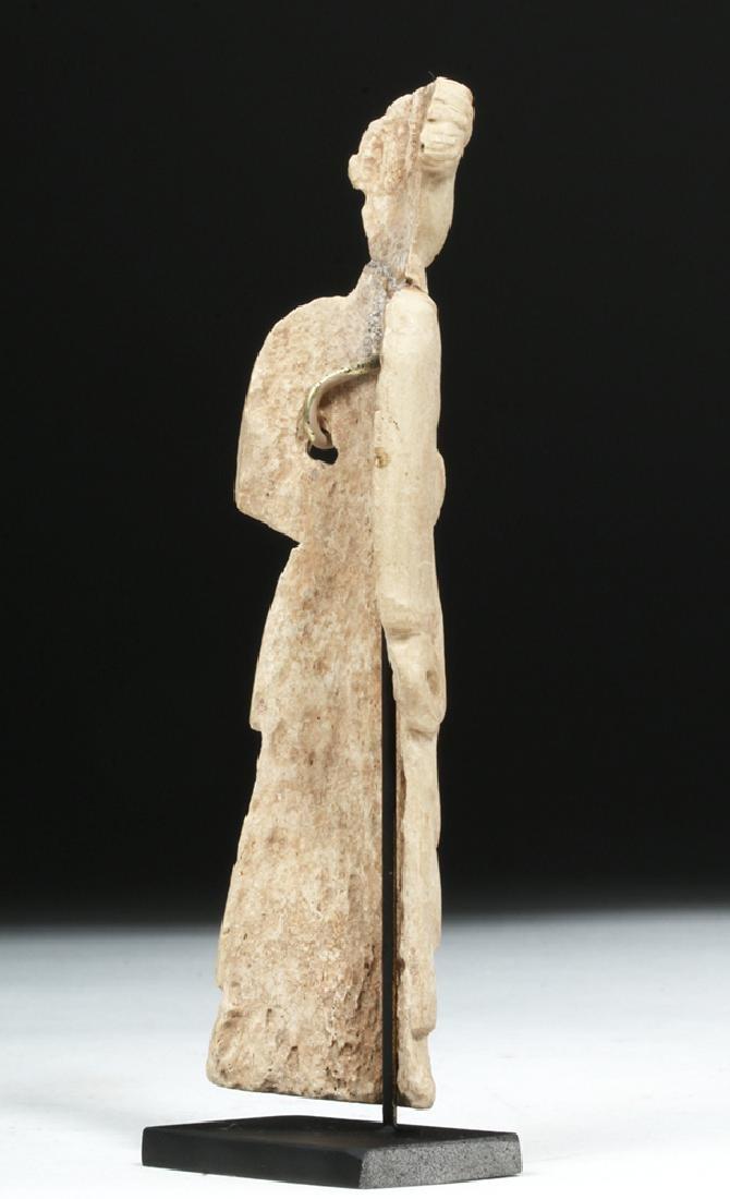 Romano-Egyptian Coptic Bone Idol - Standing Woman - 4