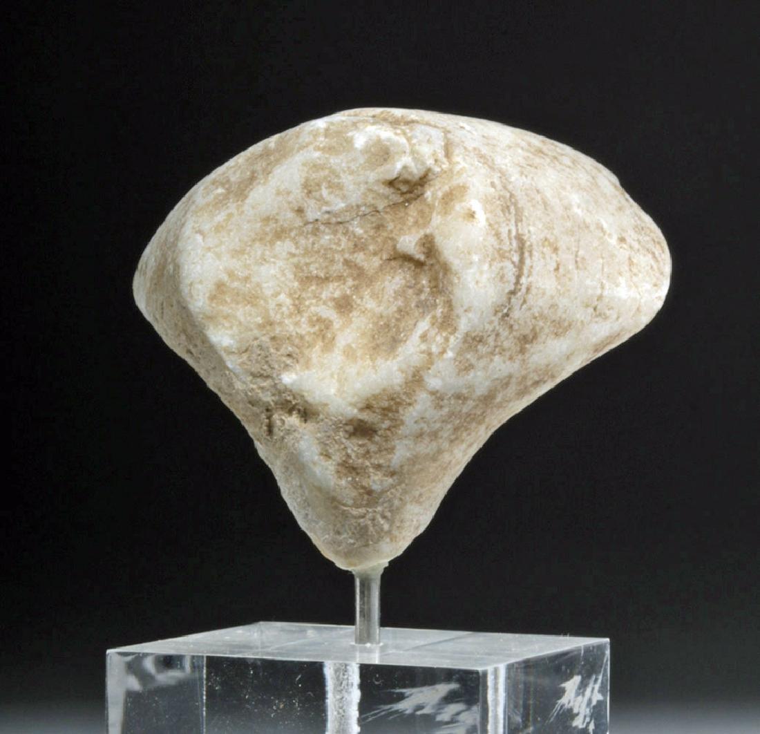 Ancient Anatolian Kilia Marble Idol Head - 5