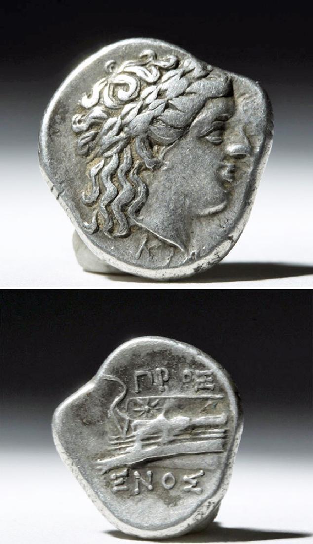 Greek Bithynia Kios AR Silver Hemistater Coin - 325 BCE