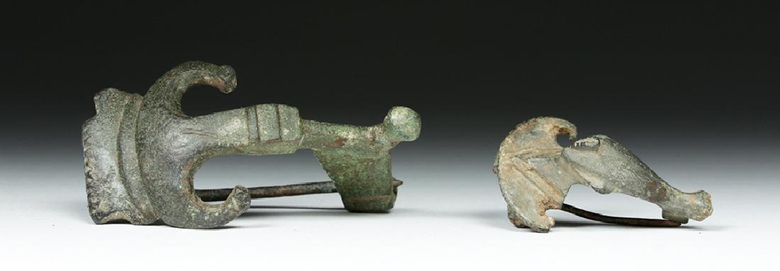 Pair of Ancient Roman Bronze Fibulae