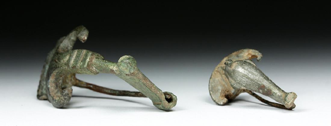Pair of Ancient Roman Bronze Fibulae - 2