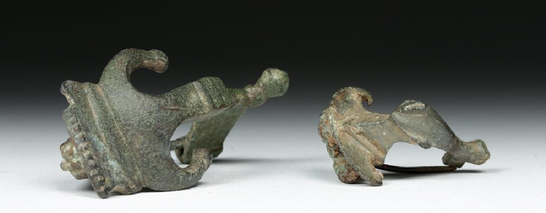 Pair of Ancient Roman Bronze Fibulae - 5