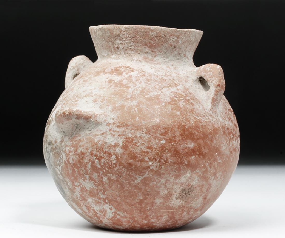Jerash Pottery Ledge Handle Jar - 2