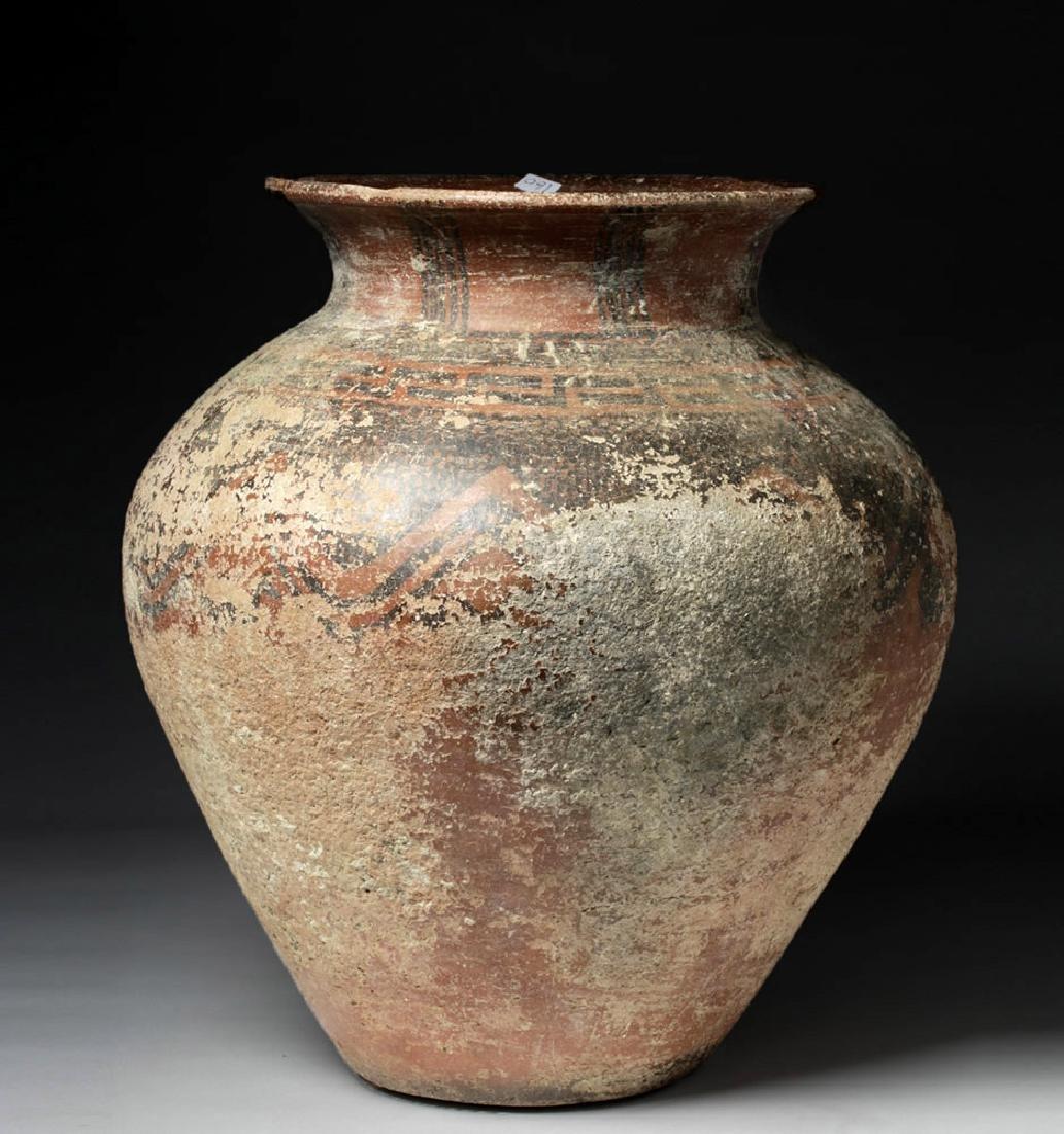 Huge Anatolian Pottery Storage Jar w/ Greek Key Design