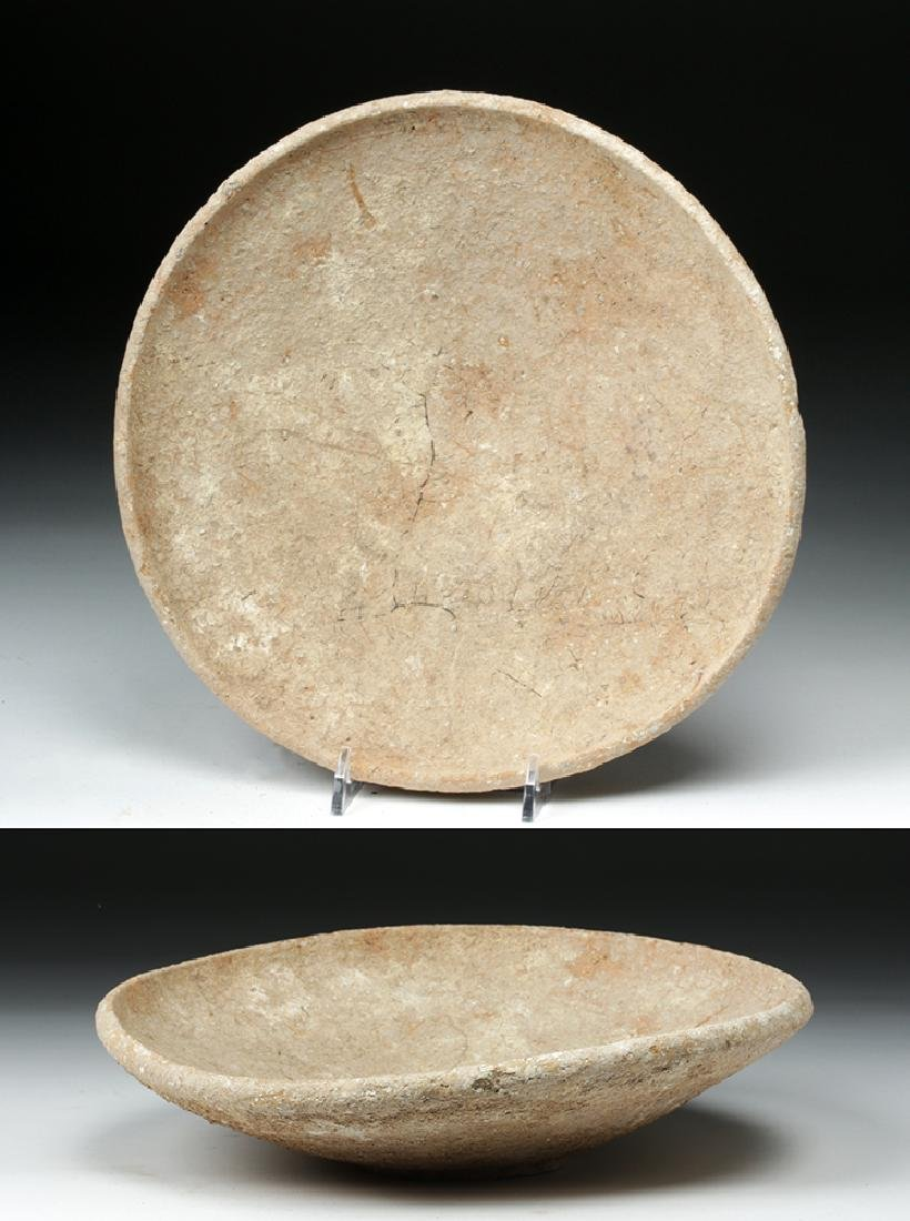 Holy Land Iron Age Pottery Plate - Intact!