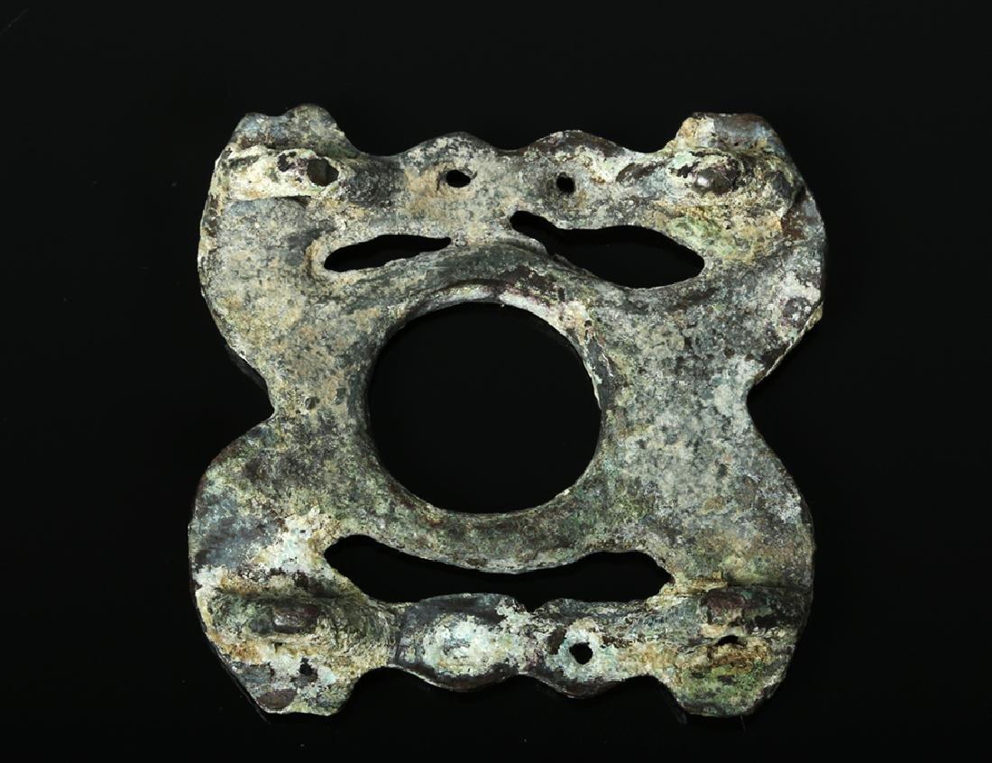 Scythian Bronze Openwork Animal Applique - 2