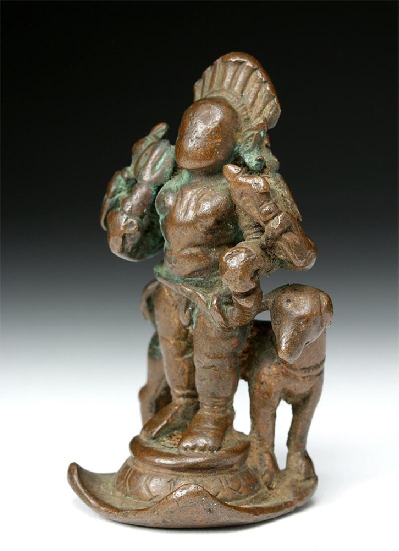 16th C. Indian Bronze Shiva / Bhairava & Dog