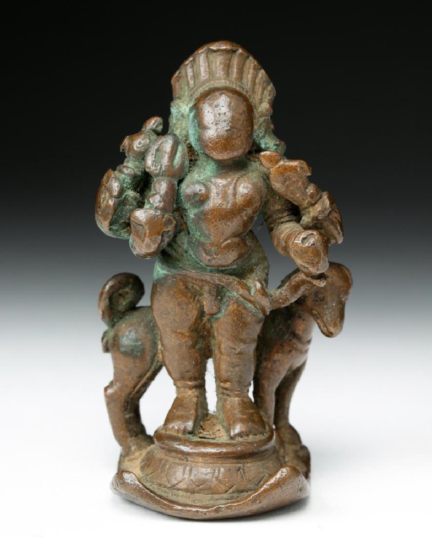 16th C. Indian Bronze Shiva / Bhairava & Dog - 2