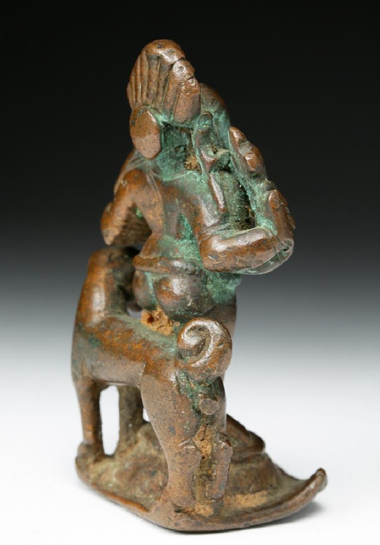 16th C. Indian Bronze Shiva / Bhairava & Dog - 4