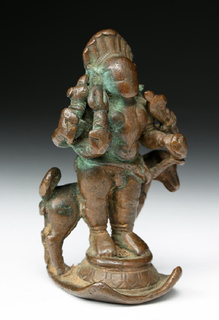 16th C. Indian Bronze Shiva / Bhairava & Dog - 5