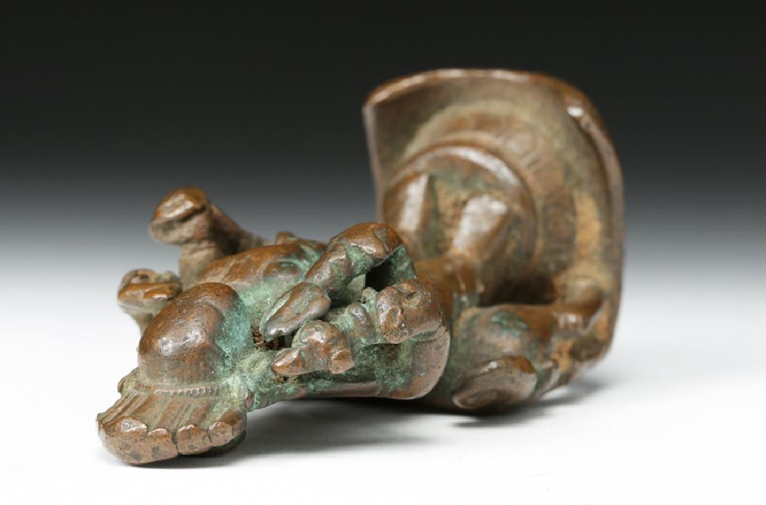 16th C. Indian Bronze Shiva / Bhairava & Dog - 7