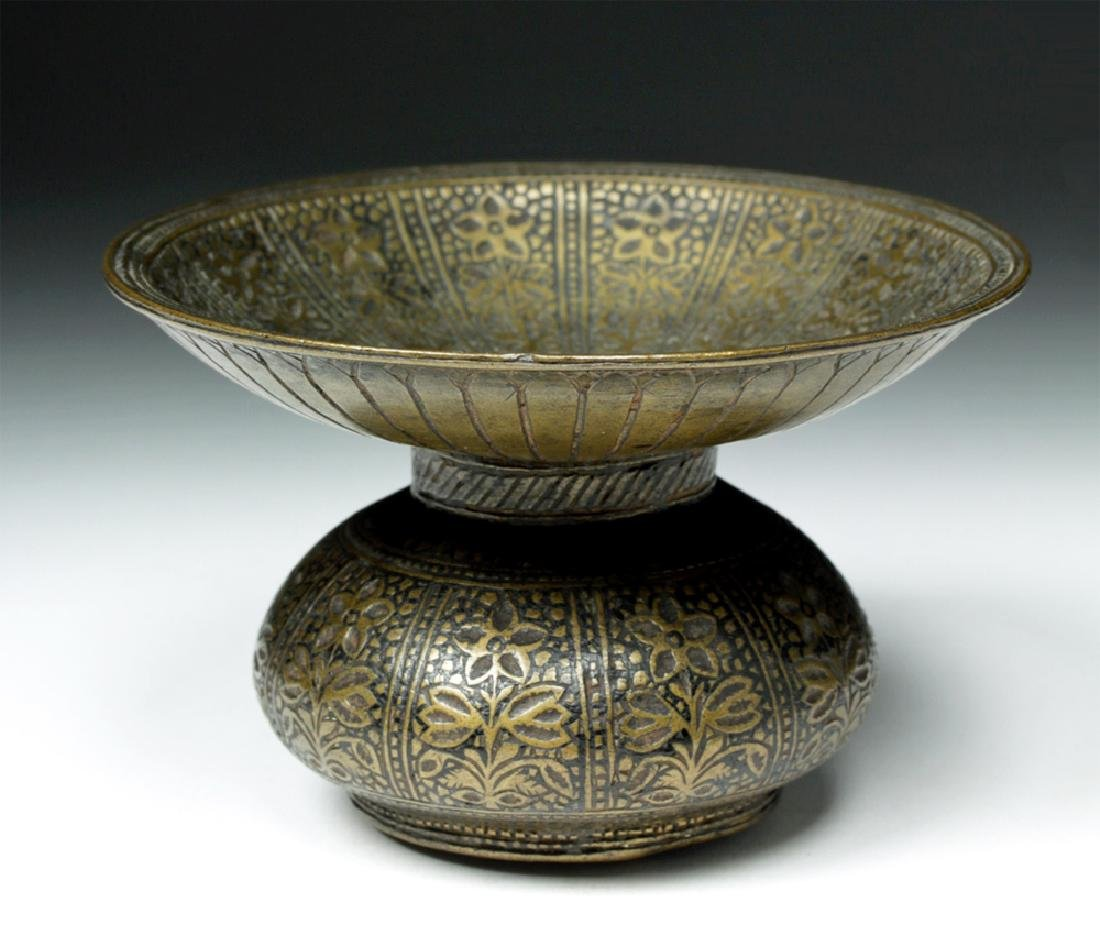 18th C. Indian Mughal Bronze Betel Nut Spittoon