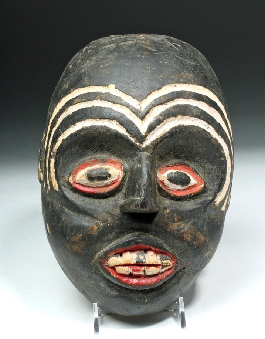 Indonesian Carved & Painted Wooden Festival Mask