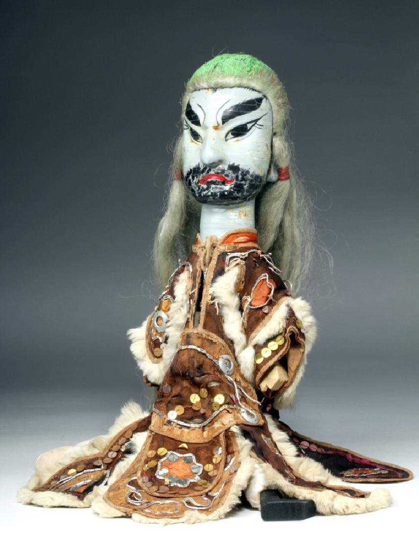 Early 20th C. Chinese Opera Wooden Puppet Doll