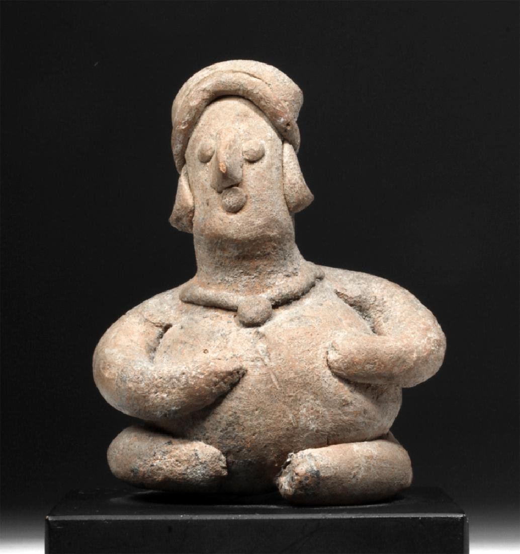 Colima Pottery Seated Rotund Figure
