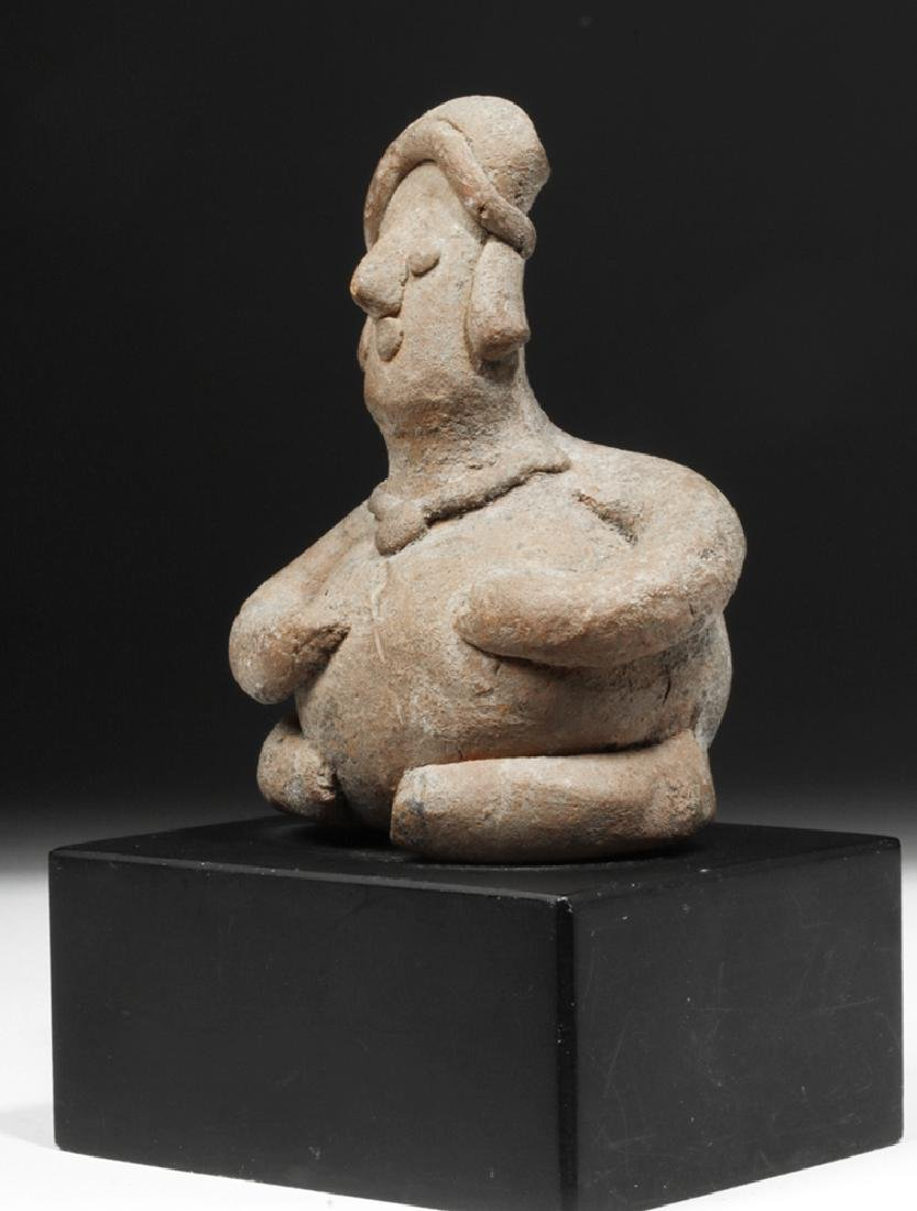 Colima Pottery Seated Rotund Figure - 2