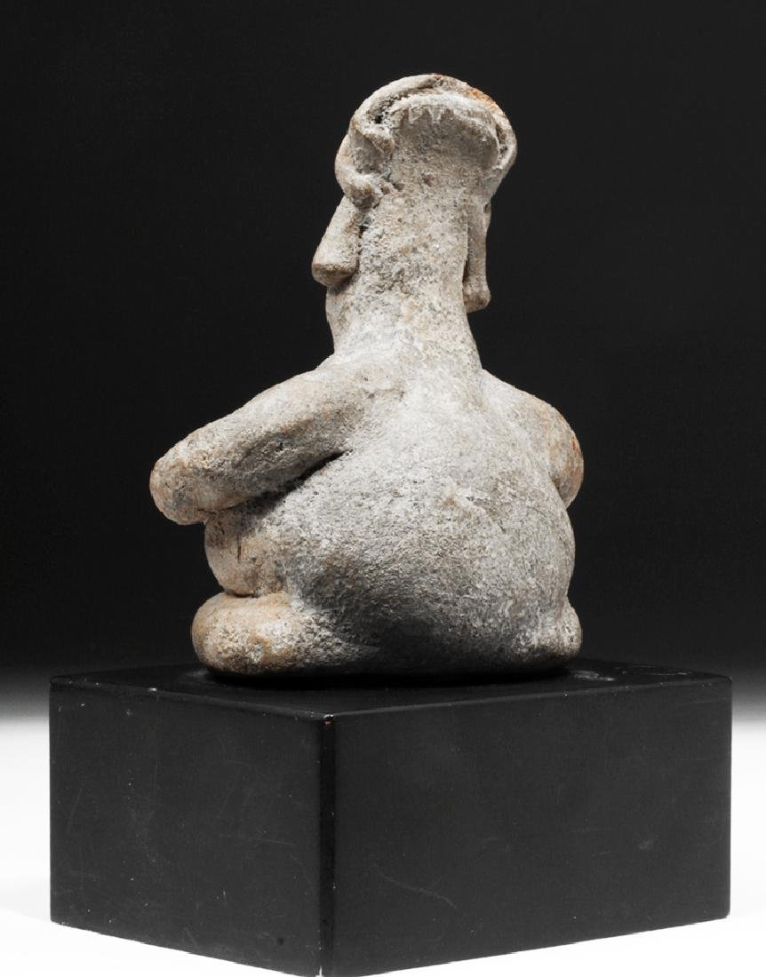 Colima Pottery Seated Rotund Figure - 3