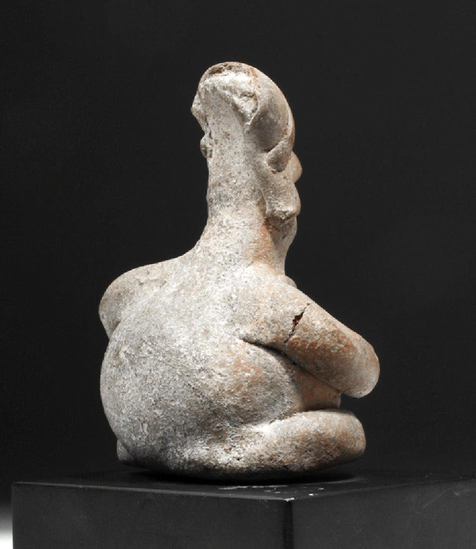 Colima Pottery Seated Rotund Figure - 4