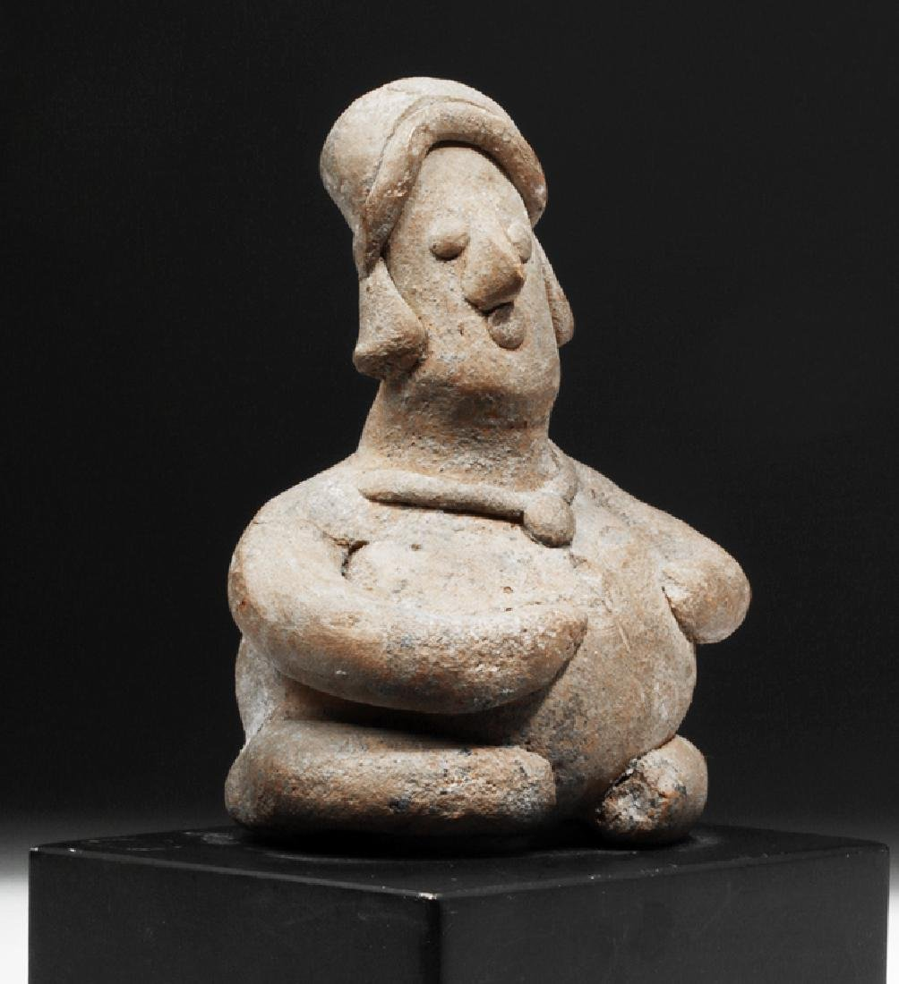 Colima Pottery Seated Rotund Figure - 5