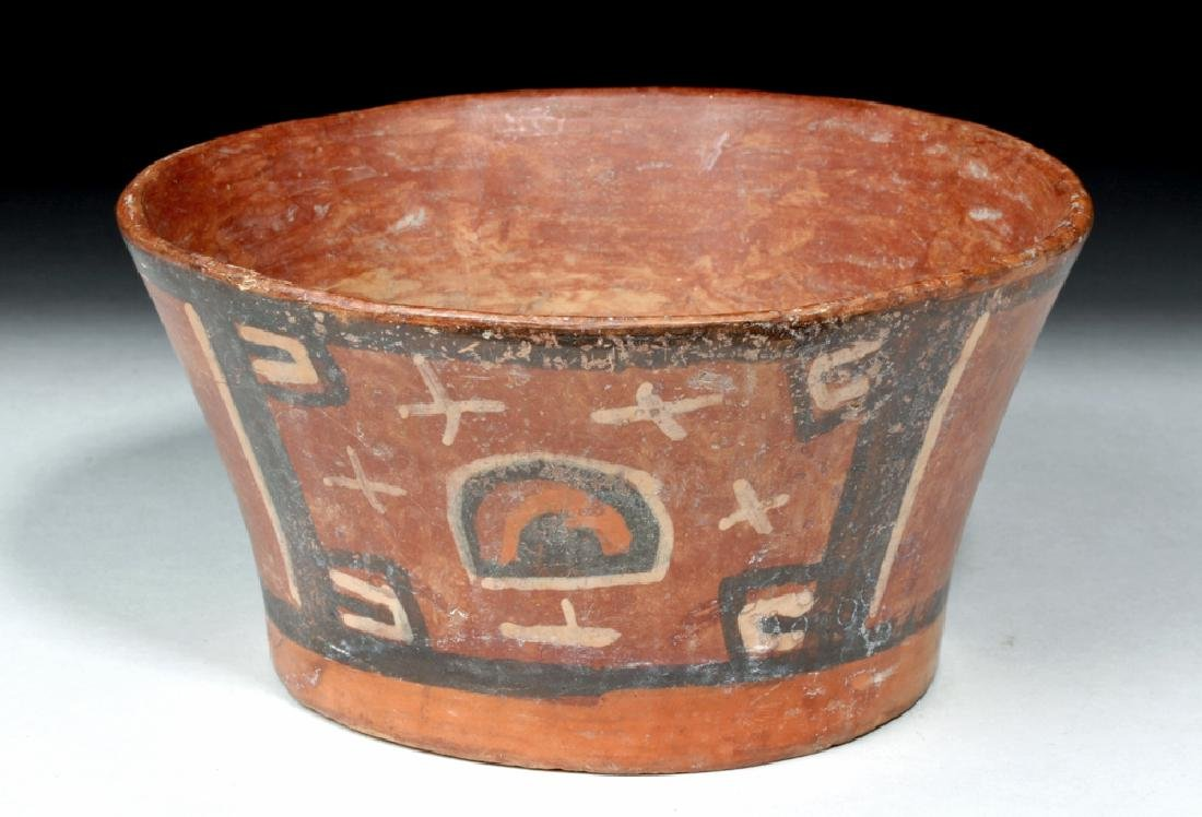 Tihuanaco Polychrome Flared Bowl - Huts