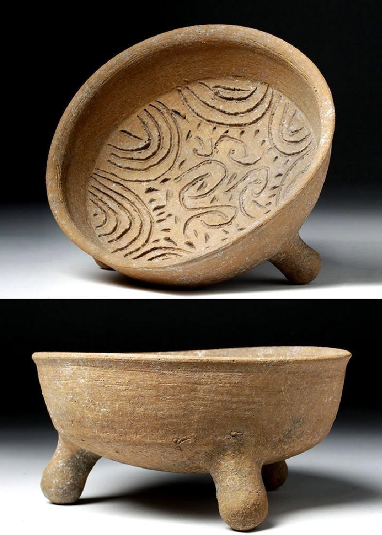 Choice Toltec Pottery Grater Bowl - Landscape Design