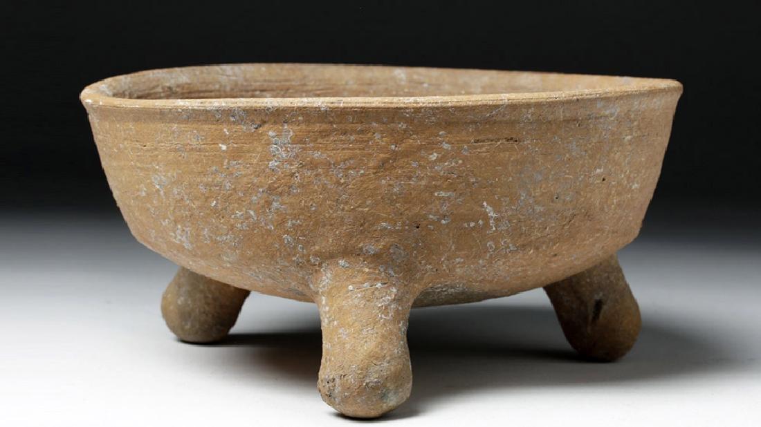 Choice Toltec Pottery Grater Bowl - Landscape Design - 2