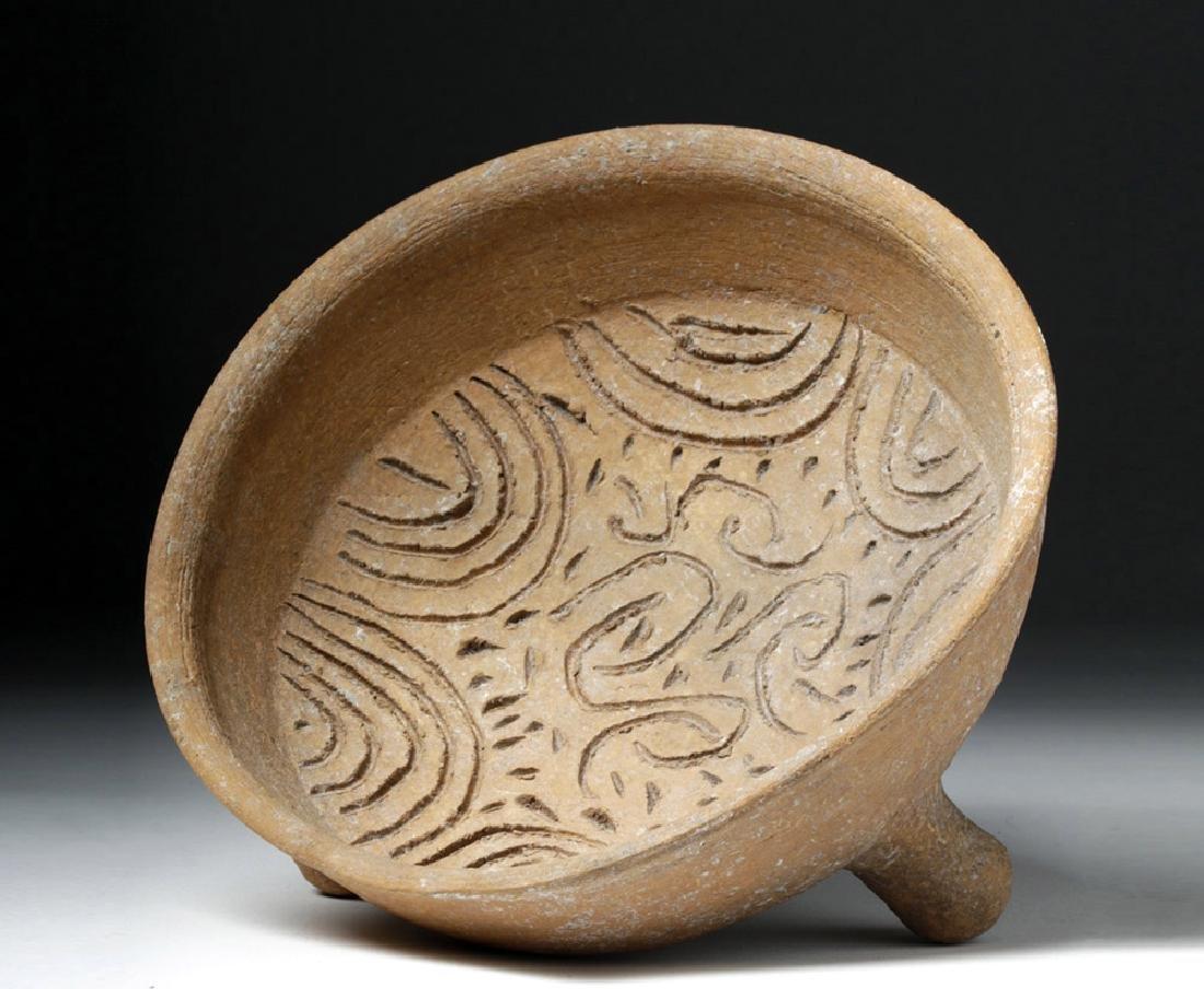 Choice Toltec Pottery Grater Bowl - Landscape Design - 5