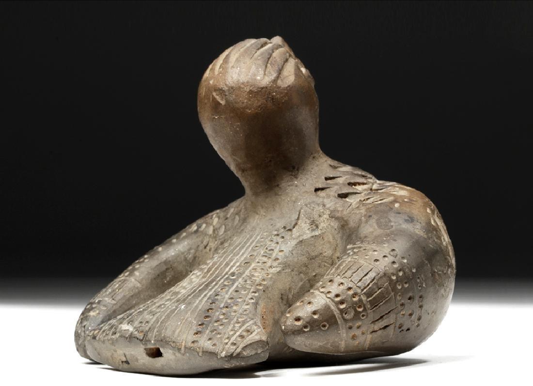 Adorable Tairona Pottery Ocarina - Bird Form - 3
