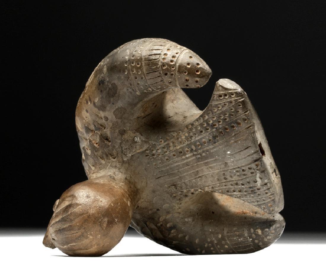 Adorable Tairona Pottery Ocarina - Bird Form - 5