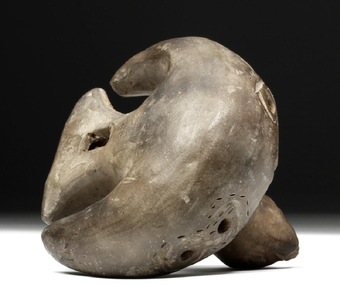 Adorable Tairona Pottery Ocarina - Bird Form - 6