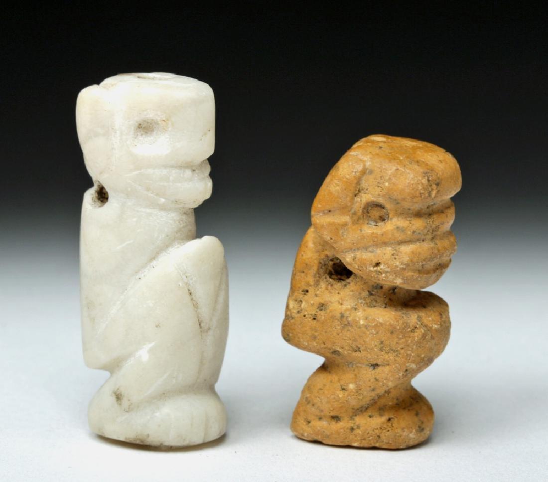 Rare Pair of Taino Stone Amulets - Ex-Peter Arnovick