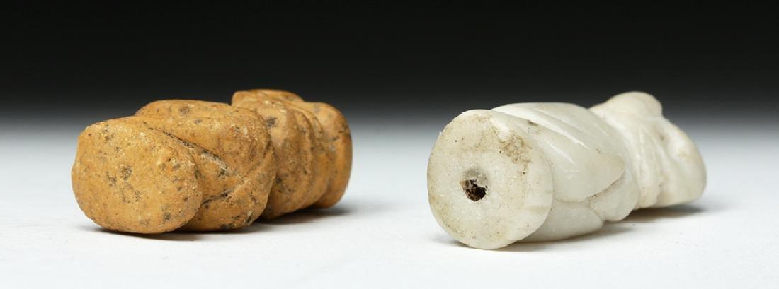 Rare Pair of Taino Stone Amulets - Ex-Peter Arnovick - 6