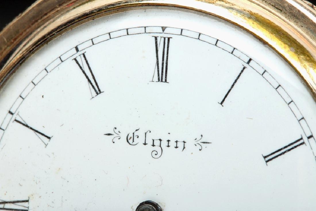 19th C. USA Elgin 10K Gold Pocket Watch w/ Fob - 5