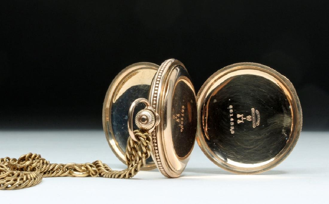 19th C. USA Elgin 10K Gold Pocket Watch w/ Fob - 6